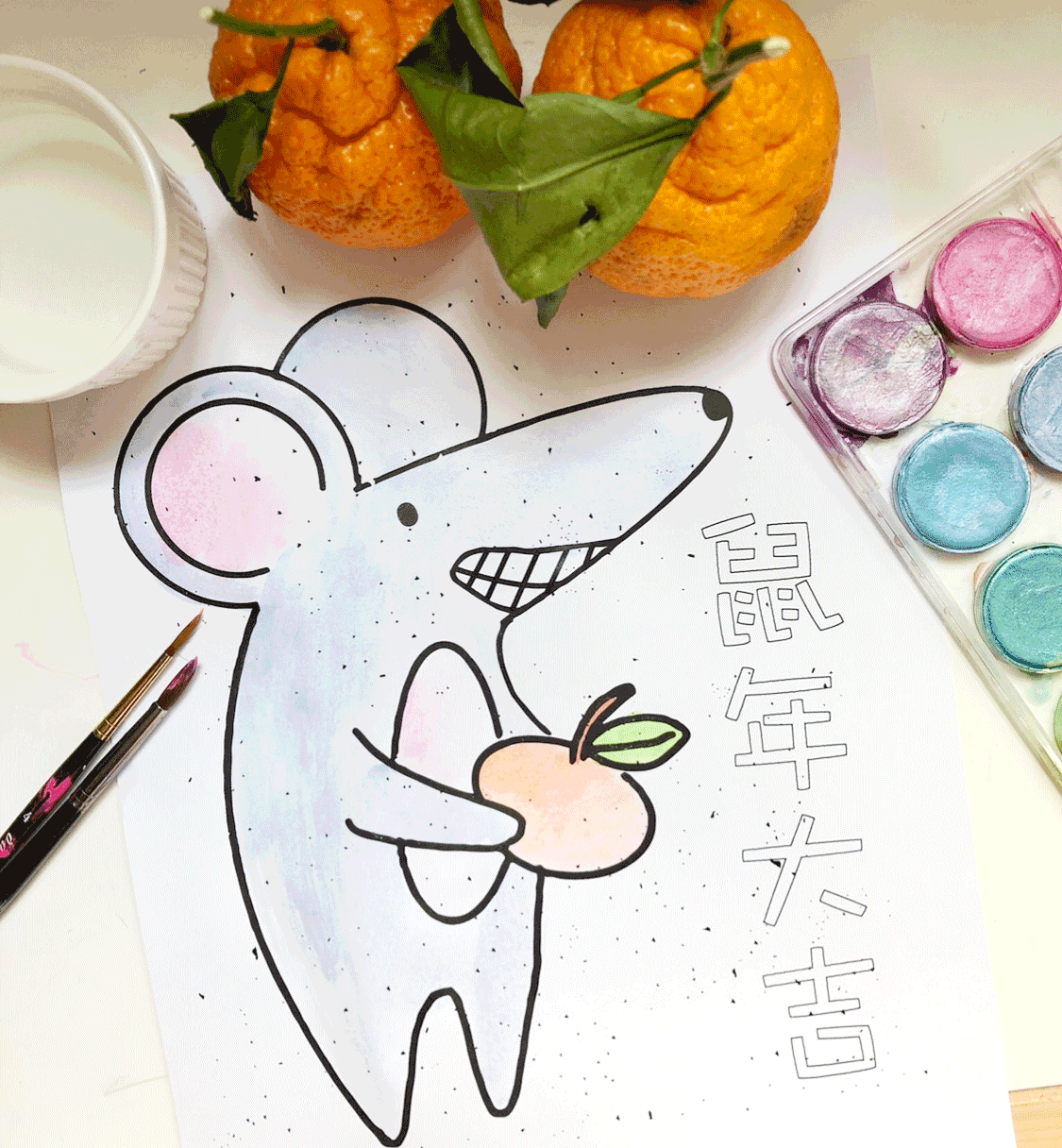 Year of the Rat Coloring Sheet